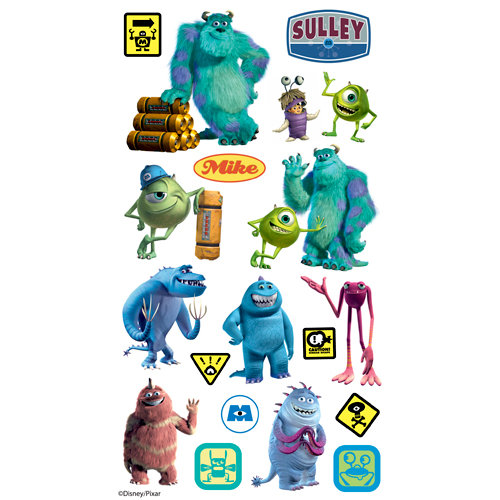 EK Success - Disney Collection - Classic Stickers - Monsters Inc