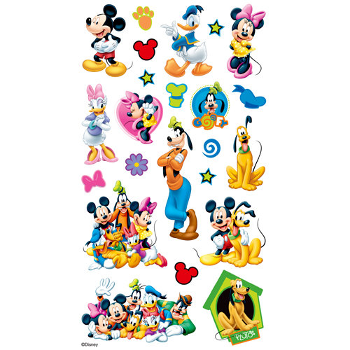ek success disney mickey and friends classic stickers. Black Bedroom Furniture Sets. Home Design Ideas