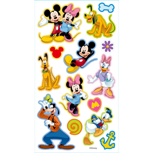 EK Success - Disney Collection - 3 Dimensional Puffy Stickers - Mickey and Friends