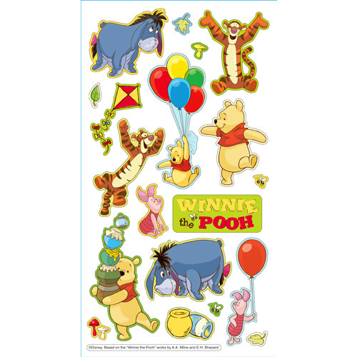 EK Success - Disney Collection - 3 Dimensional Puffy Stickers - Winnie the Pooh