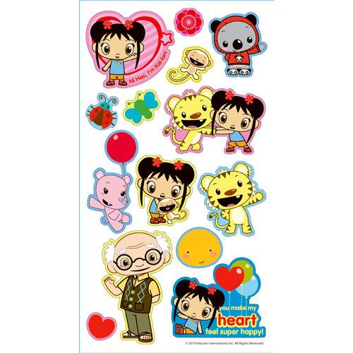 EK Success - Nickelodeon Collection - 3 Dimensional Puffy Stickers - Nihao Kai-lan