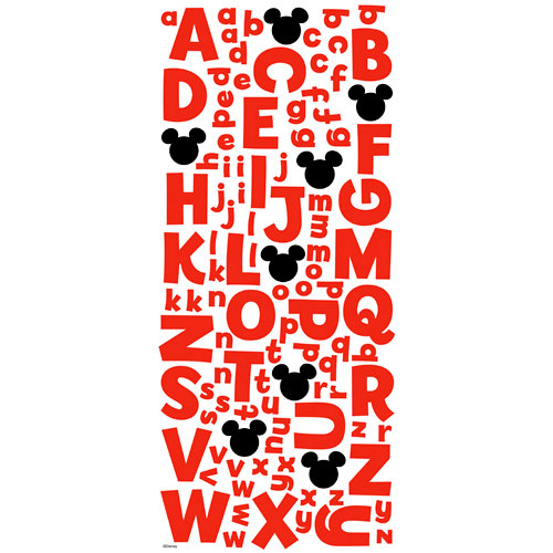 EK Success - Disney Collection - 3 Dimensional Glitter Foam Stickers - Mickey Alphabet