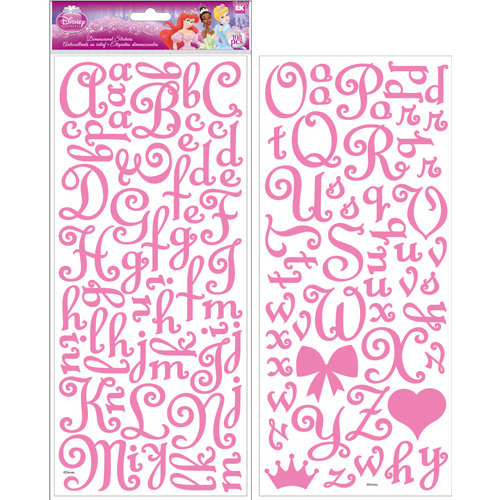 EK Success - Disney Collection - 3 Dimensional Felt Stickers - Princess Alphabet