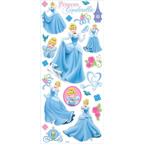 EK Success - Disney Collection - Large Classic Stickers - Princess Cinderella