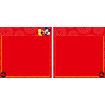 EK Success - Disney Collection - 12 x 12 Double Sided Paper with Varnish Accents - Mickey Red Frame