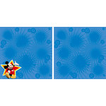 EK Success - Disney Collection - 12 x 12 Double Sided Paper with Varnish Accents - Mickey Star