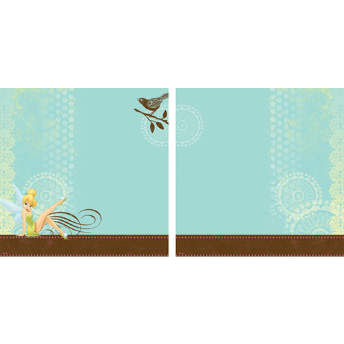 EK Success - Disney Collection - 12 x 12 Double Sided Paper with Varnish Accents - Tinker Bell with Bird