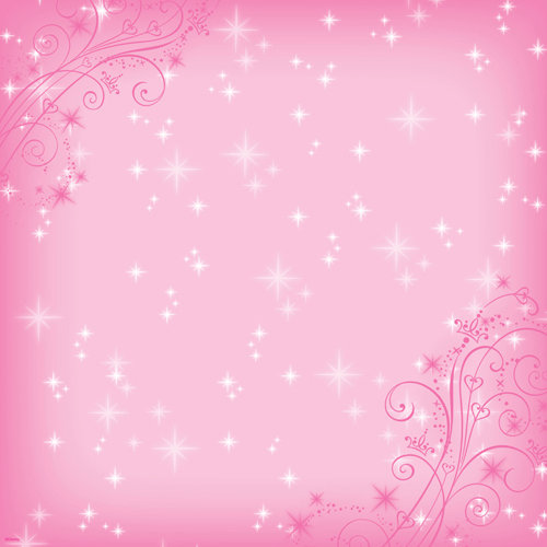 EK Success - Disney Collection - 12 x 12 Paper with Varnish Accents - Pink Sparkle