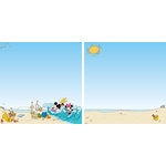 EK Success - Disney Collection - 12 x 12 Double Sided Paper with Varnish Accents - Mickey Beach