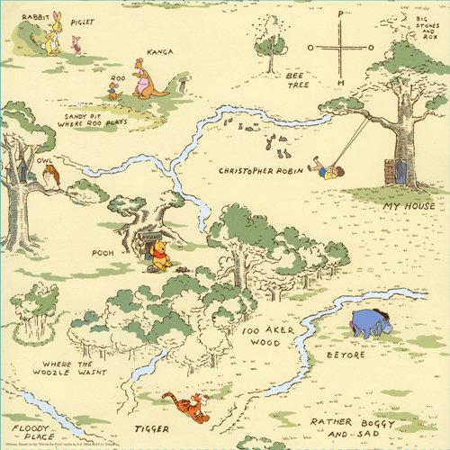 EK Success - Disney Collection - 12 x 12 Paper - 100 Acre Woods