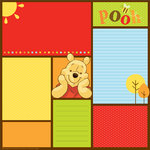 EK Success - Disney Collection - 12 x 12 Paper - Pooh - Color Block