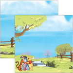 EK Success - Disney Collection - 12 x 12 Double Sided Paper with Varnish Accents - Pooh and Friends Outdoor