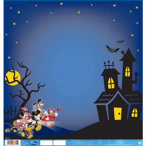 EK Success - Disney Collection - Halloween - 12 x 12 Double Sided Paper with Varnish Accents - Mickey and Friends Trick or Treat