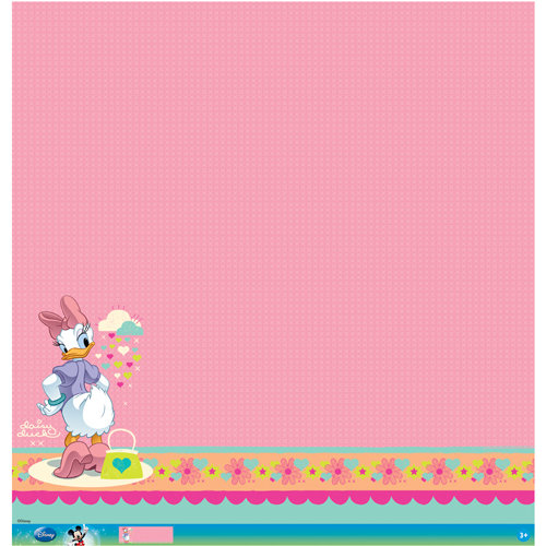 EK Success - Disney Collection - Mickey Family - 12 x 12 Paper with Glitter and Varnish Accents - Daisy