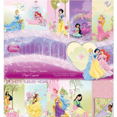 EK Success - Disney Collection - Princess - 12 x 12 Specialty Paper Pad
