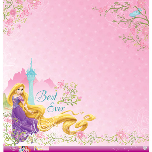 EK Success - Disney Collection - Princess - 12 x 12 Paper with Glitter Accents - Rapunzel