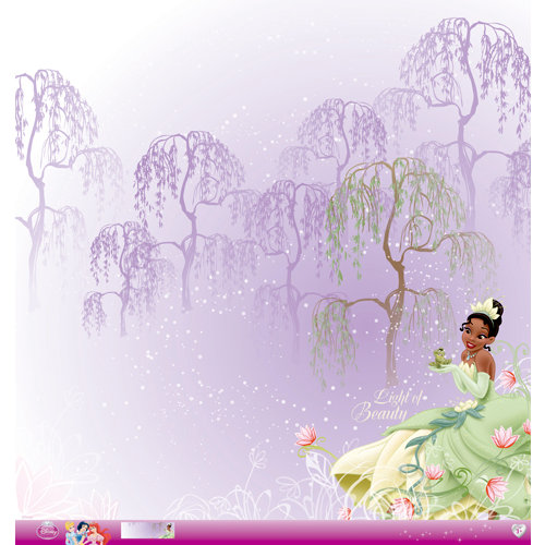 EK Success - Disney Collection - Princess - 12 x 12 Paper with Glitter Accents - Tiana