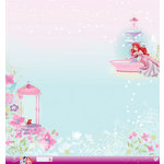 EK Success - Disney Collection - Princess - 12 x 12 Paper with Glitter Accents - Ariel