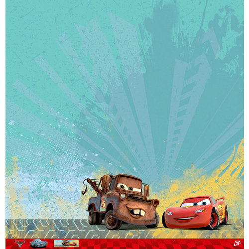 EK Success - Disney Collection - Cars 2 - 12 x 12 Paper - Mater and Lightning McQueen