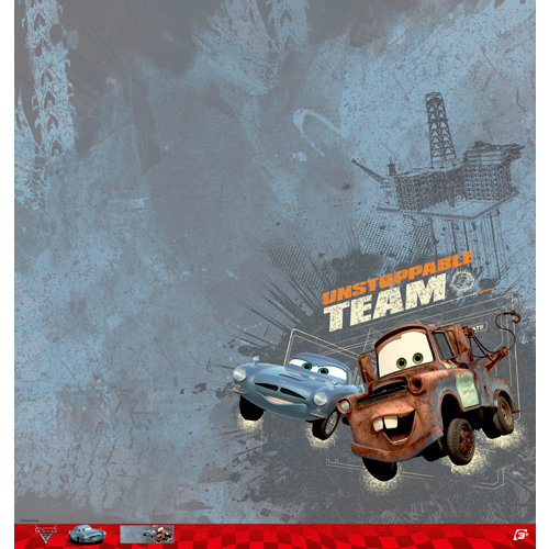 EK Success - Disney Collection - Cars 2 - 12 x 12 Paper - Mater and Finn