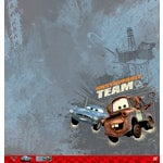 EK Success - Disney Collection - Cars 2 - 12 x 12 Paper - Mater and Finn