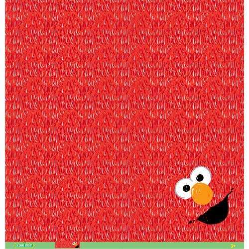 EK Success - Sesame Street Collection - 12 x 12 Paper - Elmo Furry