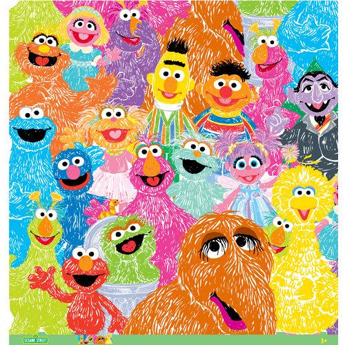 EK Success - Sesame Street Collection - 12 x 12 Paper - Furry Bunch