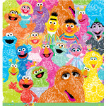 EK Success - Sesame Street Collection - 12 x 12 Paper - Furry Bunch