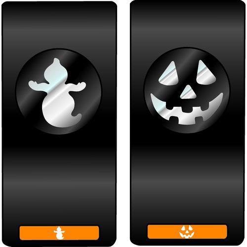 EK Success - Slim Profile - Mini Punch - 2 Piece Set - Ghost and Jack O Lantern