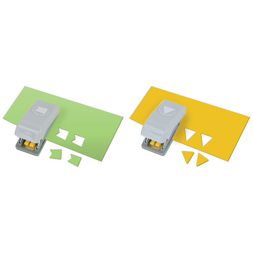 EK Success - Paper Shapers - Slim Profile - Mini Punch Set - 2 Pieces - Pennants