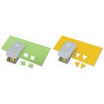 EK Success - Paper Shapers - Slim Profile - Mini Punch Set - 2 Pieces - Pennants