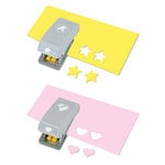 EK Success - Paper Shapers - Slim Profile - Mini Punch Set - 2 Pieces - Heart and Star