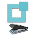 EK Success - Paper Shapers - Slim Profile - Large Punch - 1.5 Inch Scallop Square, CLEARANCE