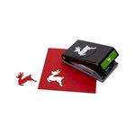 EK Success - Paper Shapers - Slim Profile - Large Punch - Leaping Reindeer