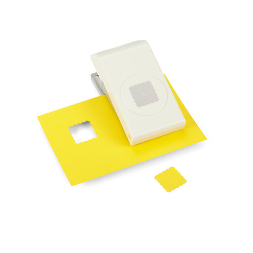EK Success - EK Tools - Nesting Punch - 1 Inch Scallop Square