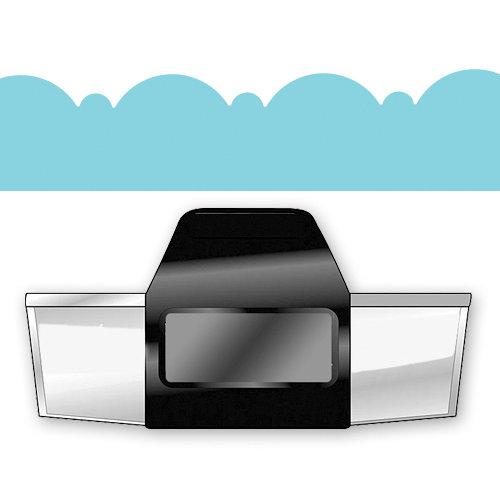 EK Success - Paper Shapers - Slim Profile - Edger Punch - Deco Scallop