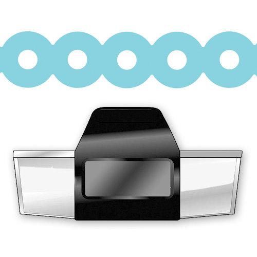 EK Success - Paper Shapers - Slim Profile - Edger Punch - Donut Chain