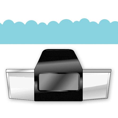 EK Success - Paper Shapers - Slim Profile - Edger Punch - Bumpy Road