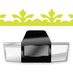 EK Success - Paper Shapers - Slim Profile - Edger Punch - Acanthus Leaf, CLEARANCE