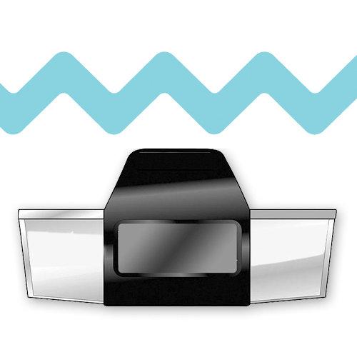 EK Success - Paper Shapers - Slim Profile - Edger Punch - Zig Zag Chain