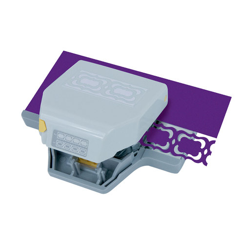 EK Success - Paper Shapers - Slim Profile - 2-in-1 Layering Edger Punch - Flourish Squares