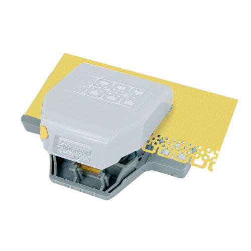 EK Success - Paper Shapers - Slim Profile - 2-in-1 Layering Edger Punch - Interlocking Squares