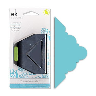 EK Success - Paper Shapers - Slim Profile - Corner Punch - Deco Scallop