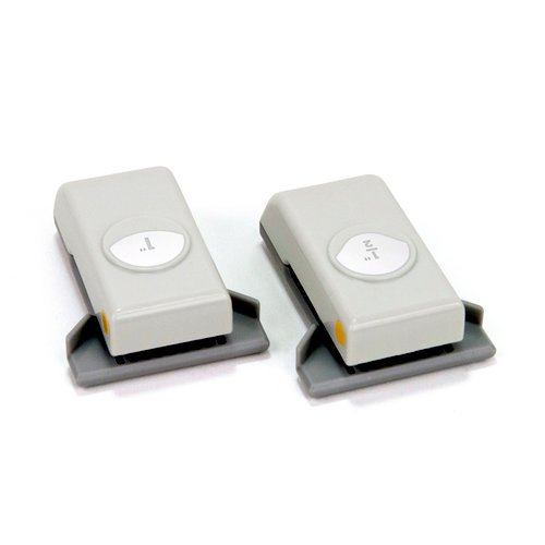 EK Success - Paper Shapers - Slim Profile - Mini Punch Set - 2 Pieces - Corner Rounder