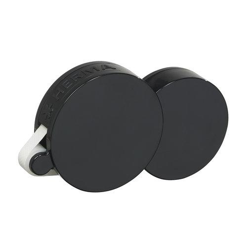 Herma Dotto Dots Roll Dispenser - Permanent - Black