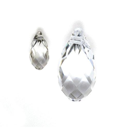 EK Success - Jolee's Jewels - Crystallized Swarovski Elements Collection - Celebrations - Jewelry Pendant - Briolette Pair - Crystal