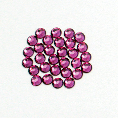 EK Success - Jolee's Jewels - Crystallized Swarovski Elements Collection - Flat Back Hotfix Jewels - 4 mm - Fuchsia