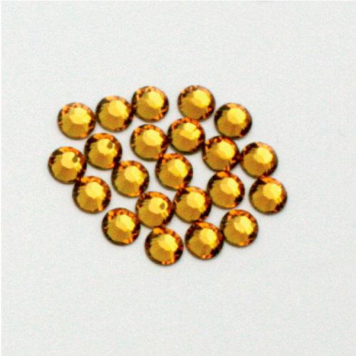 EK Success - Jolee's Jewels - Crystallized Swarovski Elements Collection - Flat Back Hotfix Jewels - 5 mm - Topaz