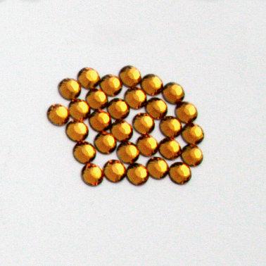 EK Success - Jolee's Jewels - Crystallized Swarovski Elements Collection - Flat Back Hotfix Jewels - 4 mm - Topaz