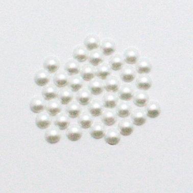 EK Success - Jolee's Jewels - Crystallized Swarovski Elements Collection - Flat Back Hotfix Jewels - Pearls - 4 mm - Chalk White